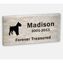 Pet Marker - 16 x 8 x 2 Inches - Dolomitic Stone - Garden Memorial Stone - Custom Engraved