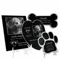 Pet Memorial Plaques Laser-Engraved Black Granite