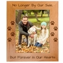 Pet Memorial Red Alder Picture Frame - No Longer by Our Side, But Forever in Our Hearts - Sympathy Dog or Cat Gift - 5 Sizes