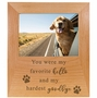 Pet Memorial Red Alder Picture Frame - You were My Favorite Hello and My Hardest Goodbye - 2 Sizes