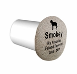 Pet Memorial River Rock with Cremation Urn - Stone Garden  Marker - Engraved