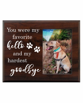 Pet Walnut Wood Picture Frame - My favorite Hello