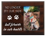 Pet Walnut Wood Picture Frame - No Longer By Our Side