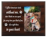 Pet Walnut Wood Picture Frame - When Tomorrow Starts