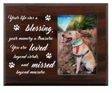 Pet Walnut Wood Picture Frame - Your Life Was a Blessing