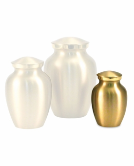 Petite Classic Brass Cremation Urn - Engravable