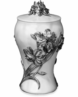 Pewter Lily Cremation Urn