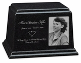 Photo Black Granite Ark Cremation Urn