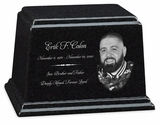 Photo Black Granite Ark Cremation Urn - 3 Sizes