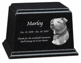 Photo Black Granite Ark Pet Cremation Urn - 3 Sizes