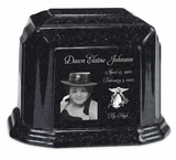 Photo Black Granite Millenium Cremation Urn