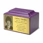 Photo or Graphic Plaque Amethyst Classic Cultured Marble Cremation Urn Vault