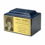 Photo or Graphic Plaque Navy Classic Cultured Marble Cremation Urn Vault