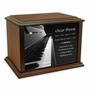 Piano Keyboard Eternal Reflections Wood Cremation Urn - 4 Sizes