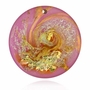 Pink and Gold Cremains Encased in Glass Cremation Sun Catcher