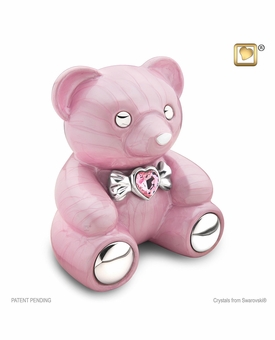 Pink CuddleBear Infant Child Cremation Urn