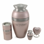Pink Legacy Metallics Heart Keepsake Cremation Urn