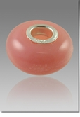 Pink Perfect Memory Bead Cremains Encased in Glass Cremation Jewelry