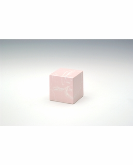 Pink Small Cube Cremation Urn - Engravable