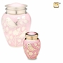 Pink with Gold Blessing Birds Keepsake Cremation Urn