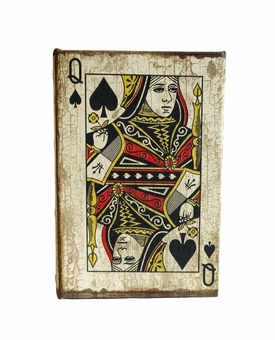 Playing Cards Queen Of Spades Keepsake Cremation Urn