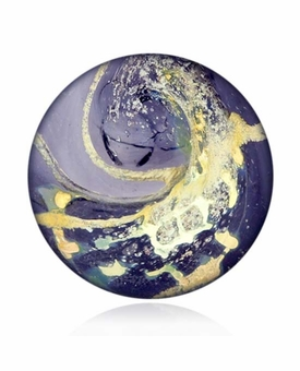 Plum Cremains Encased in Glass Cremation Healing Stone