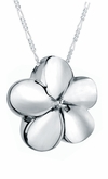 Plumeria Flower Sterling Silver Cremation Jewelry Pendant Necklace