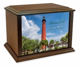 Ponce de Leon Inlet Light Station Eternal Reflections Wood Cremation Urn - 4 Sizes