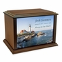 Portland Head Lighthouse Eternal Reflections Wood Cremation Urn - 4 Sizes