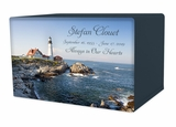 Portland Head Lighthouse Eternal Reflections II Wood Cremation Urn - 5 Urn Choices