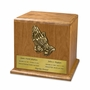 Praying Hands Cherry Wood Companion Cremation Urn