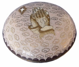 Praying Hands Cloisonne Jewel Dish
