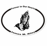 Praying Hands Memorial Sticker