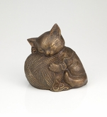 Precious Kitty Bronze Pet Cremation Urn