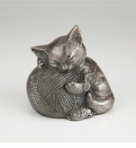 Precious Kitty Silver Pet Cremation Urn