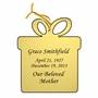 Present Double-Sided Memorial Ornament - Engraved - Gold