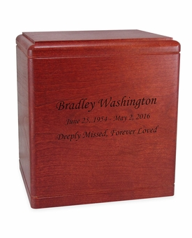 President's Cherry Wood Cremation Urn