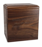 President's Walnut Wood Cremation Urn