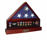 Presidential Flag Display Case, Display Case and Cremation Urn Package
