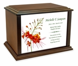 Pride of Barbados Eternal Reflections Wood Cremation Urn - 4 Sizes