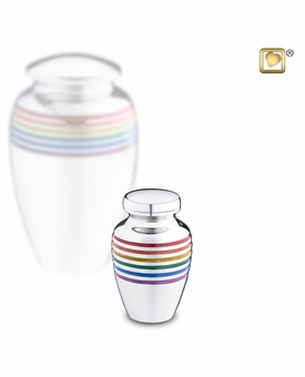 Pride Rainbow Keepsake Cremation Urn