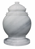 Princess Antique White Marble Cremation Urn