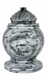 Princess Cashmere Gray Marble Cremation Urn