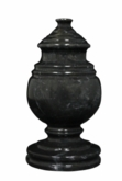 Princess Mini Ebony Marble Keepsake Cremation Urn