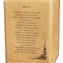 Psalm 23 Classic Maple Wood Cremation Urn
