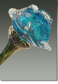 Pulsar Eternal Bloom Cremains Encased in Glass Cremation Long Stem Rose