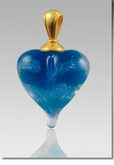 Pulsar Heart Cremains Encased in Glass Cremation Jewelry Pendant