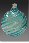 Pulsar Timeless Sphere Cremains Encased in Glass Cremation Ornament