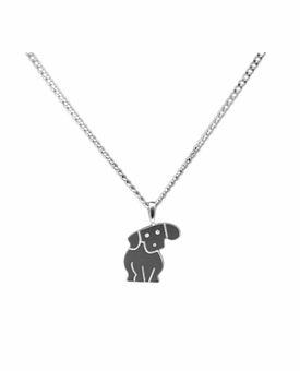 Puppy Sterling Silver Cremation Jewelry Necklace
