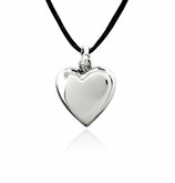 Pure Heart Stainless Steel Cremation Jewelry Pendant Necklace